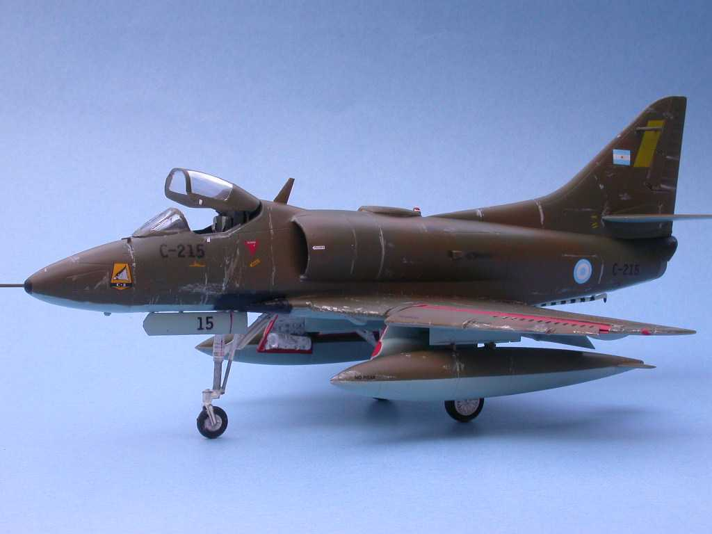 An extremely accurate model of Mariano Valasco's A-4 Skyhawk Jet Fighter