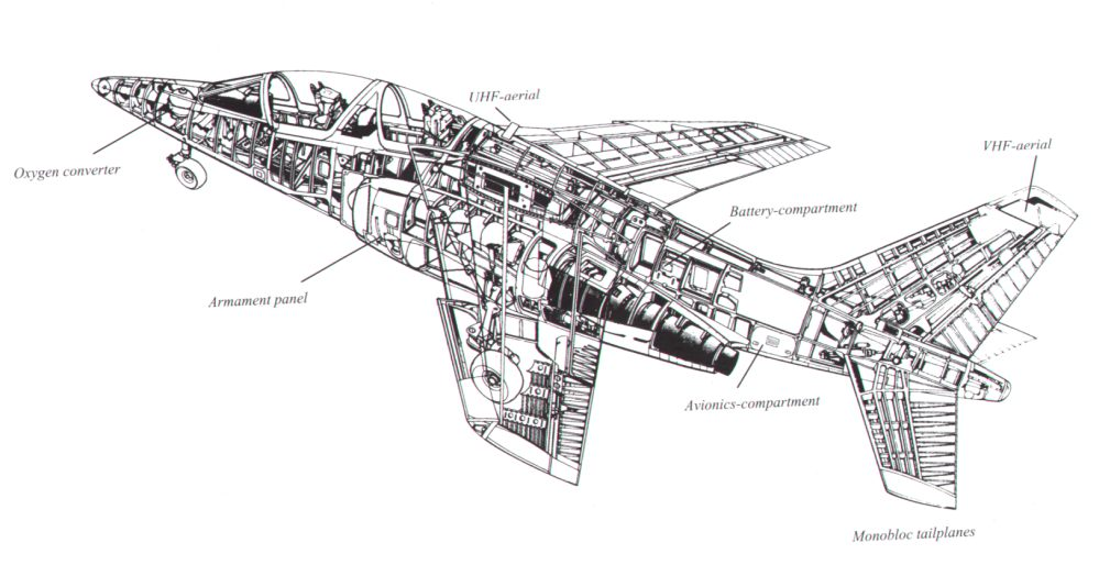 a cutaway drawing of the belgian alpha jet photo of fighter jets interior