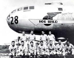 The B-29 Superfortress named Hog Wild which was shot down over North Korea