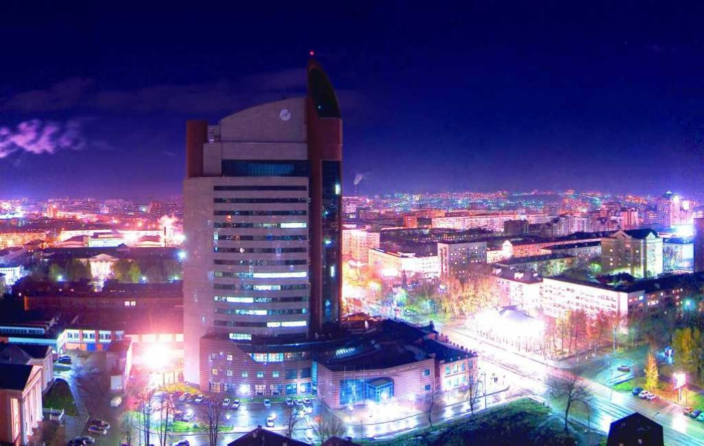 Fantastic Night time picture of Ufa Russia