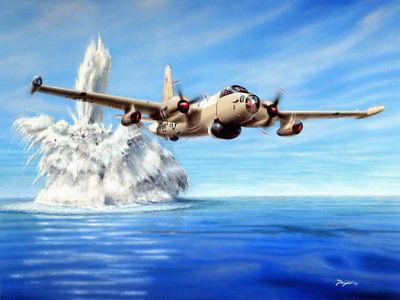 "One Nothing/"" Don Feight WW II Martin Mariner Print /""P-Boat U-Boat"