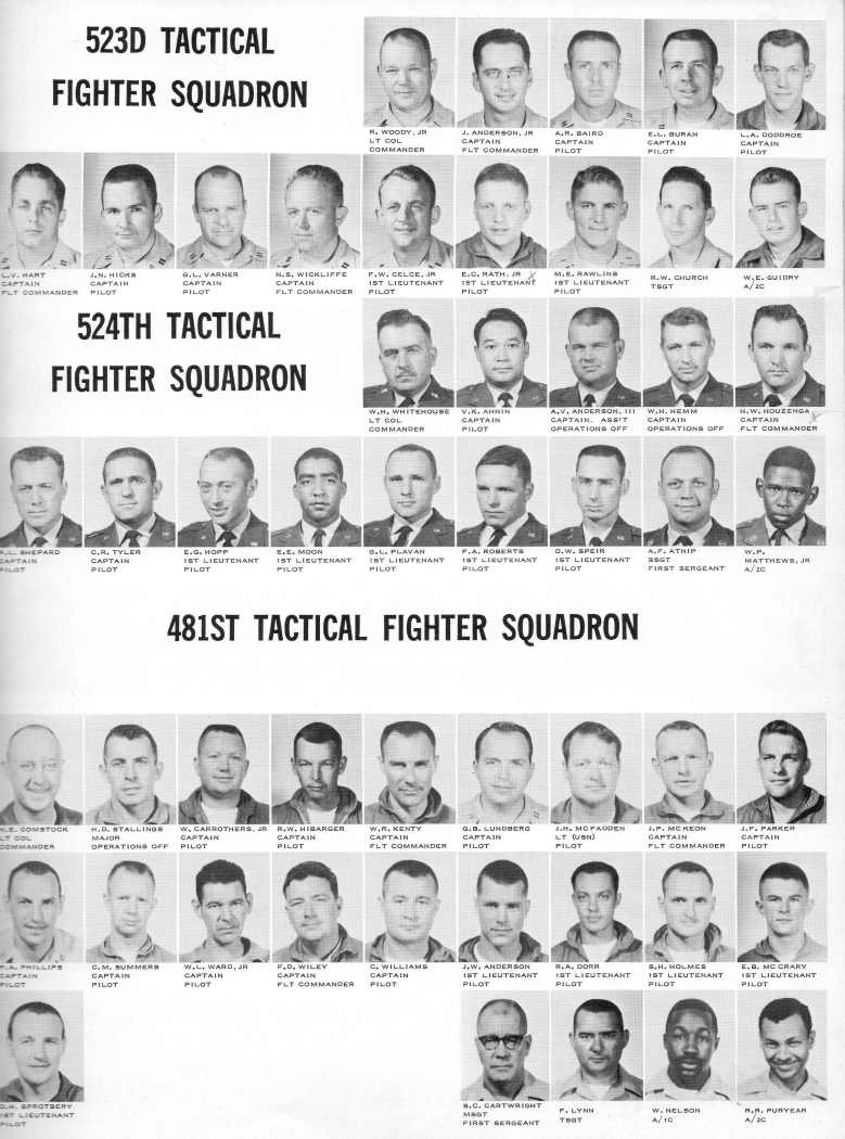 Photo of the 481st Fighter Squadron Officers from Pete Byam