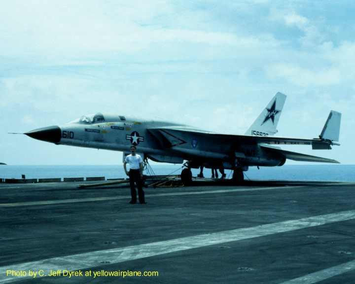 RA-5C Vigilante airplane on the USS Kitty Hawk 1977-1988