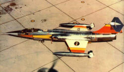 F-104A Starfighter Jet Plane NASA Colors
