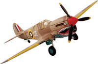 P-40 Warhawk WW2 Fighter Airplane, Famous for being the Flying Tigers