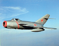 MiG-15 Fagot Russian Korean War Jet Fighter Airplane.