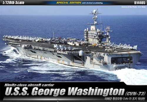 Uss george washington aircraft carrier model kit cvn 73