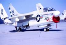 This is the A-7 Corsair located at NAS Lemoore in 1976
