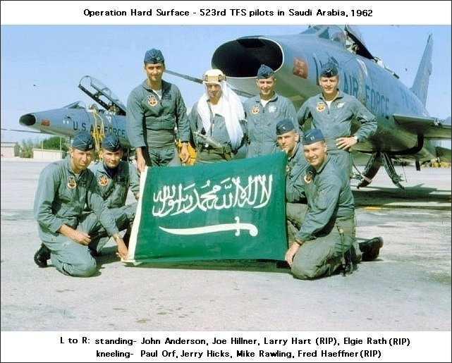الموسوعه الفوغترافيه لصور القوات الجويه الملكيه السعوديه ( rsaf ) - صفحة 3 Pete_Byam_F-100_523rd_Tactical_Fighter_Squadron