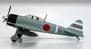 WWII Japanese Zero Fighter Airplane A6M2, built byt Mitsubishi